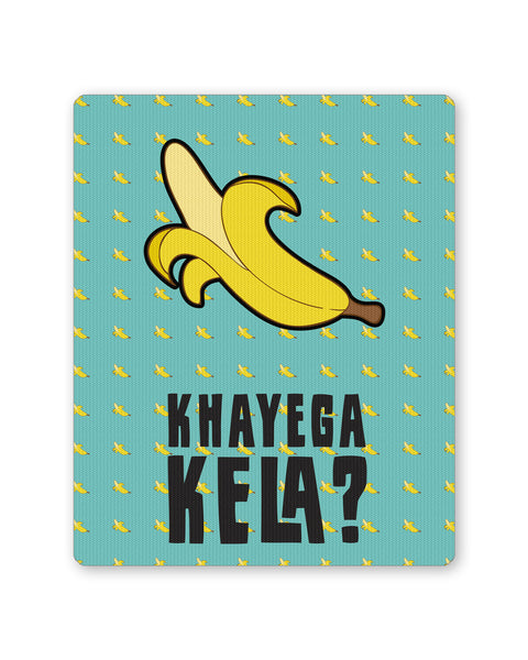 Mouse Pads | Khyega Kela Quirky Blue Pattern Mouse Pad Online India | PosterGuy.in