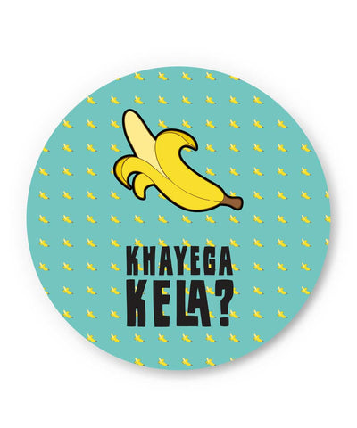 Khyega Kela Quirky Blue Pattern Fridge Magnet Online India | PosterGuy.in