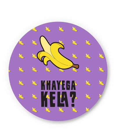 Khyega Kela Quirky Violet Pattern Fridge Magnet Online India | PosterGuy.in