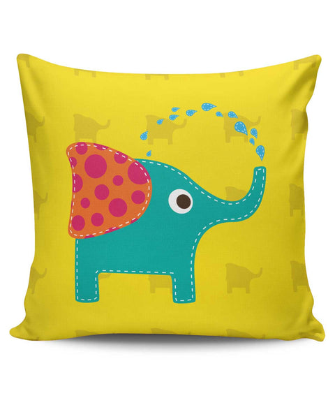 PosterGuy | Blue Elephant Quirky Cushion Cover Online India