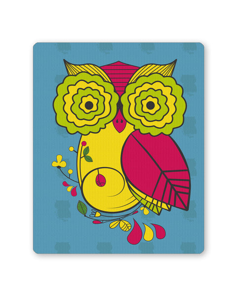 Mouse Pads | Owl Blue Quirky Art Print Mouse Pad Online India | PosterGuy.in