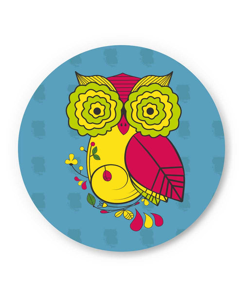 Owl Blue Quirky Art Print Fridge Magnet Online India | PosterGuy.in