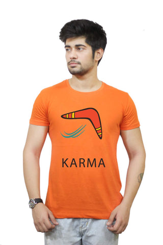 Buy Funny T-Shirts Online India | Karma Boomerang T-Shirt Funky, Cool, T-Shirts | PosterGuy.in