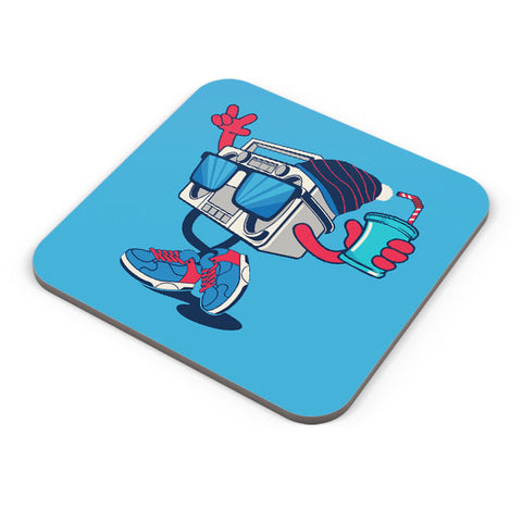 Buy Coasters Online | Pop Art Boom Box Coaster Online India | PosterGuy.in