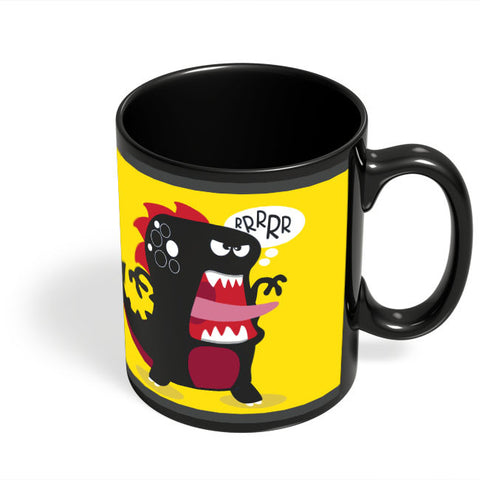 Coffee Mugs Online | Pop Art Dinosaur Illustration Black Coffee Mug Online India