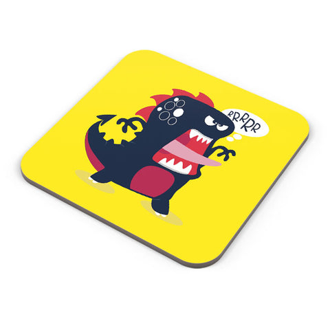 Buy Coasters Online | Pop Art Dinosaur Illustration Coaster Online India | PosterGuy.in