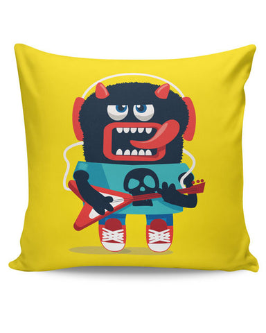 PosterGuy | Pop Art Monster Guitar Cushion Cover Online India