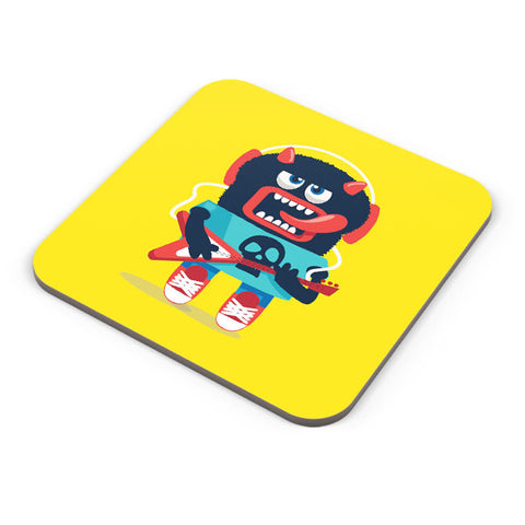 Buy Coasters Online | Pop Art Monster Guitar Coaster Online India | PosterGuy.in