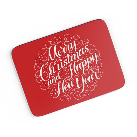 New Year & Christmas Typography A4 Mousepad Online India