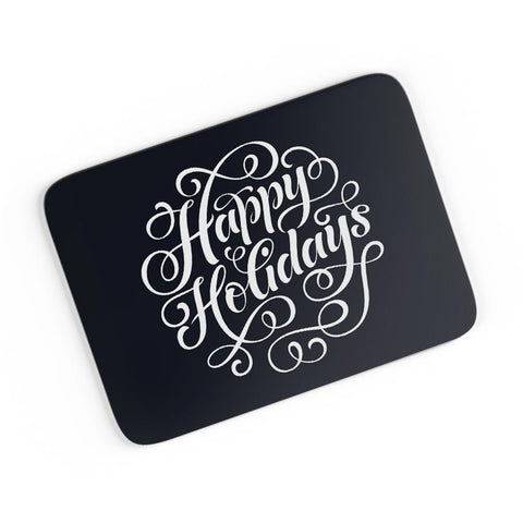 Happy Holidays Typo A4 Mousepad Online India