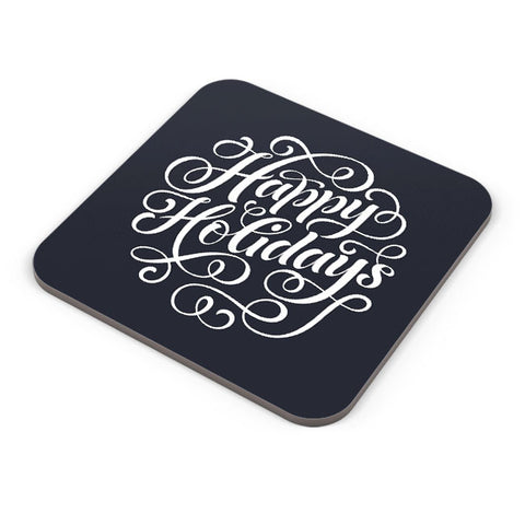 Buy Coasters Online | Happy Holidays Typo Coaster Online India | PosterGuy.in