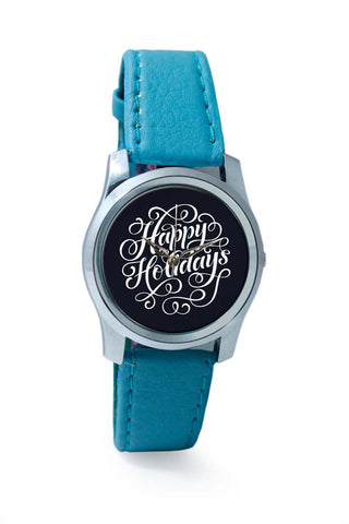 Women Wrist Watch India | Happy Holidays Typo Wrist Watch Online India