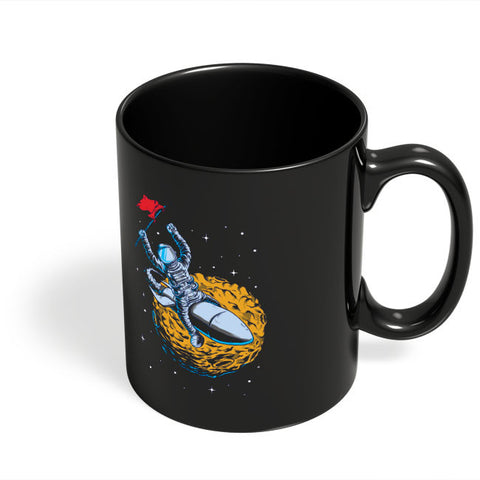 Coffee Mugs Online | Race To The Moon Black Coffee Mug Online India
