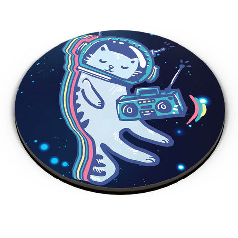 PosterGuy | Space Cat Fridge Magnet Online India by Mayank Dhawan