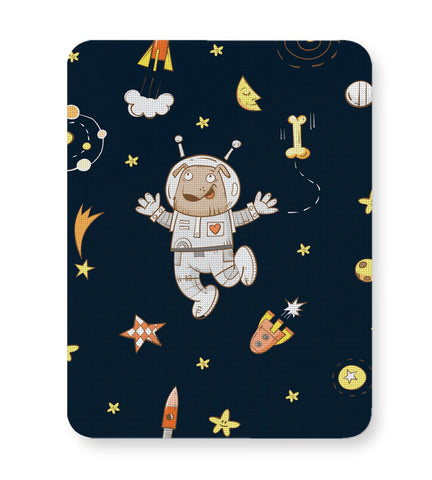 Buy Mousepads Online India | Space Dog Pattern Mouse Pad Online India