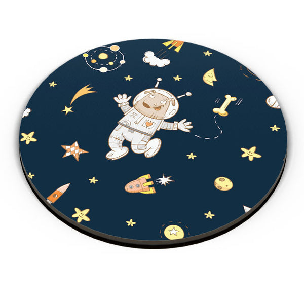 PosterGuy | Space Dog Pattern Fridge Magnet Online India by Mayank Dhawan