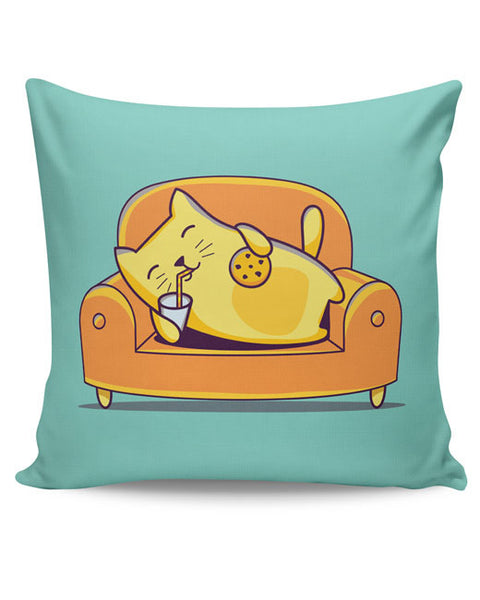 PosterGuy | Lazy Cat Cushion Cover Online India