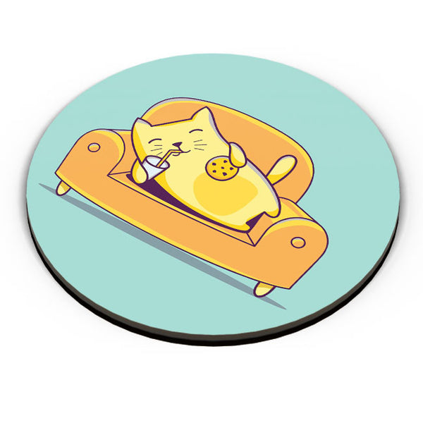 PosterGuy | Lazy Cat Fridge Magnet Online India by Mayank Dhawan