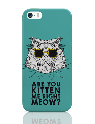 iPhone 5 / 5S Cases & Covers | Are You Kitten Me Right Meow? iPhone 5 / 5S Case Online India