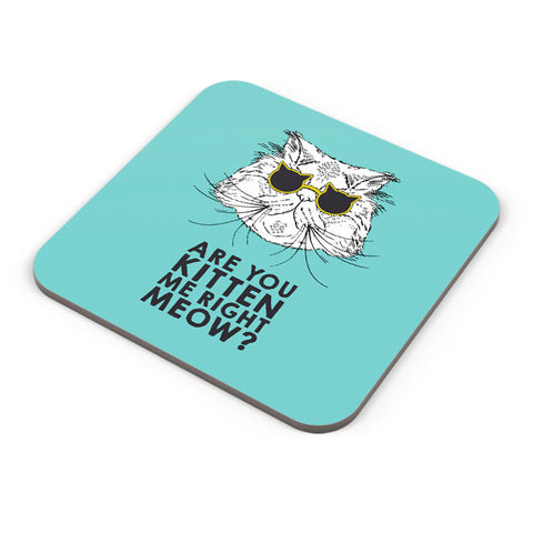 Buy Coasters Online | Are You Kitten Me Right Meow? Coaster Online India | PosterGuy.in
