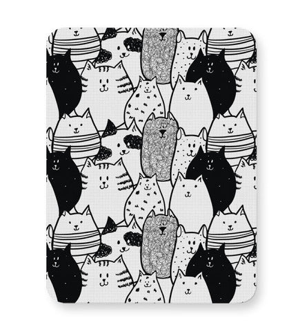 Buy Mousepads Online India | Black & White Cat Pattern Mouse Pad Online India