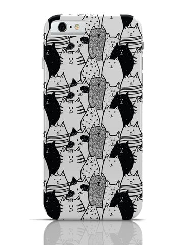 iPhone 6 Covers & Cases | Black & White Cat Pattern iPhone 6 Case Online India