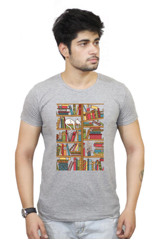 Buy Cat 'n' Books T-Shirts Online India | Cat 'n' Books T-Shirt | PosterGuy.in