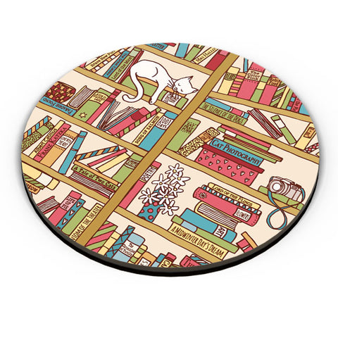 PosterGuy | Cat 'n' Books Fridge Magnet Online India by Mayank Dhawan