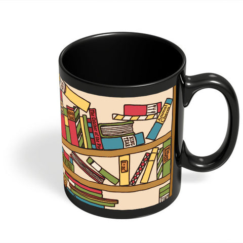 Coffee Mugs Online | Cat 'n' Books Black Coffee Mug Online India