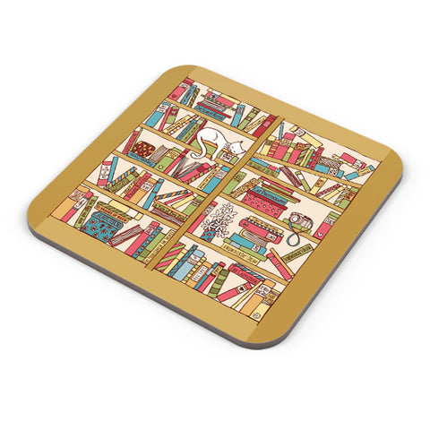 Buy Coasters Online | Cat 'n' Books Coaster Online India | PosterGuy.in