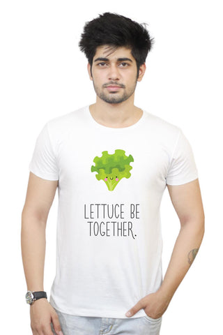 Buy Lettuce (Let Us) Be Together T-Shirts Online India | Lettuce (Let Us) Be Together T-Shirt | PosterGuy.in