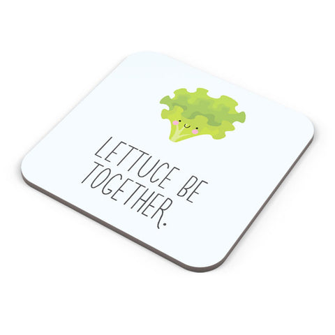Buy Coasters Online | Lettuce (Let Us) Be Together Coaster Online India | PosterGuy.in