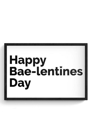 Framed Posters Online India | Happy Baelentines Day Laminated Framed Poster Online India
