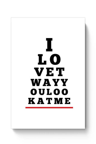 Posters Online | I Love You (Eye Check) Poster Online India | Designed by: Mayank Dhawan