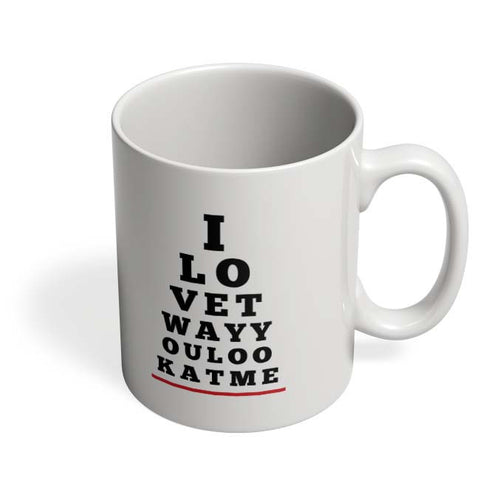 Coffee Mugs Online | I Love You (Eye Check) Mug Online India