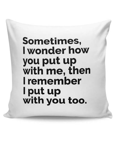 PosterGuy | Sometimes I Wonder Cushion Cover Online India