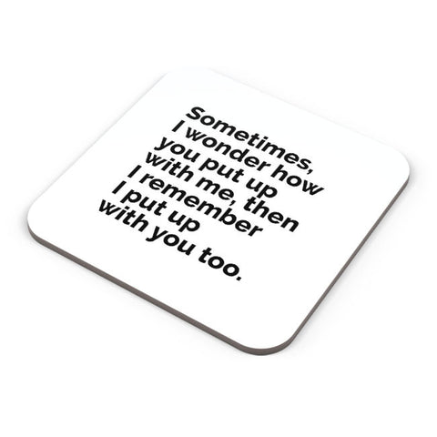 Buy Coasters Online | Sometimes I Wonder Coaster Online India | PosterGuy.in