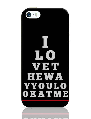 iPhone 5 / 5S Cases & Covers | I Love You (Eye Check) iPhone 5 / 5S Case Online India