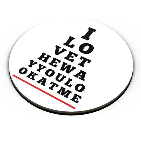PosterGuy | I Love You (Eye Check) Fridge Magnet Online India by Mayank Dhawan