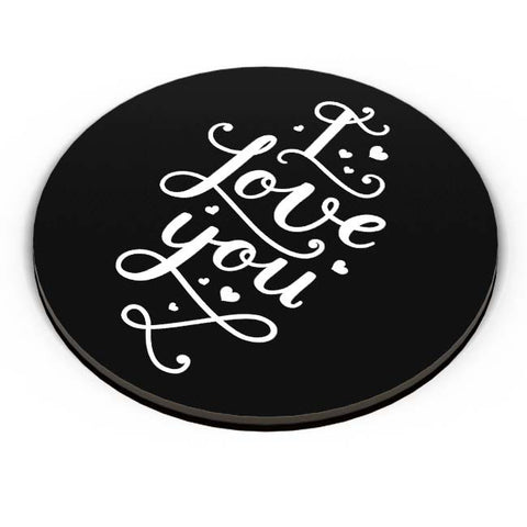 PosterGuy | I Love You Calligraphy Fridge Magnet Online India by Mayank Dhawan