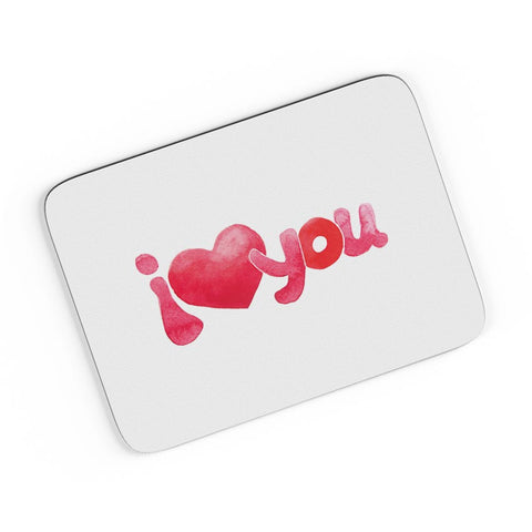 I Love You Water Color A4 Mousepad Online India