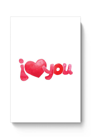 Posters Online | I Love You Water Color Poster Online India | Designed by: Mayank Dhawan