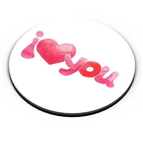 PosterGuy | I Love You Water Color Fridge Magnet Online India by Mayank Dhawan
