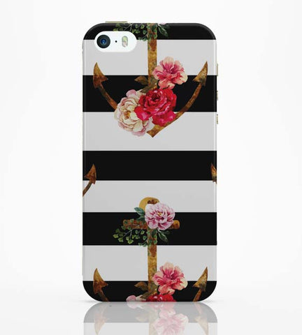 iPhone 5 / 5S Cases & Covers | Anchor Floral Stripes iPhone 5 / 5S Case Online India
