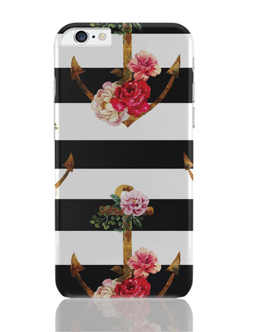 iPhone 6 Plus/iPhone 6S Plus Covers | Anchor Floral Stripes iPhone 6 Plus / 6S Plus Covers Online India