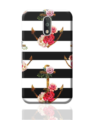 Anchor Floral Stripes Moto G4 Plus Online India