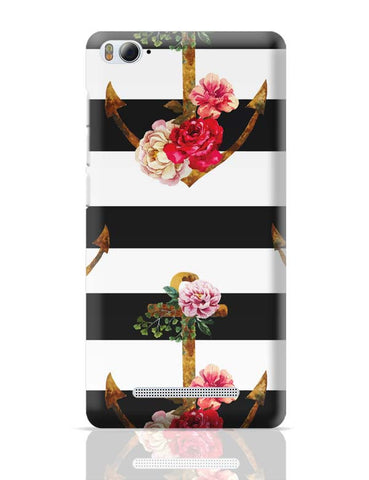 Xiaomi Mi 4i Covers | Anchor Floral Stripes Xiaomi Mi 4i Case Cover Online India
