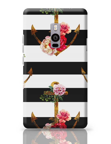OnePlus Two Covers | Anchor Floral Stripes OnePlus Two Case Cover Online India