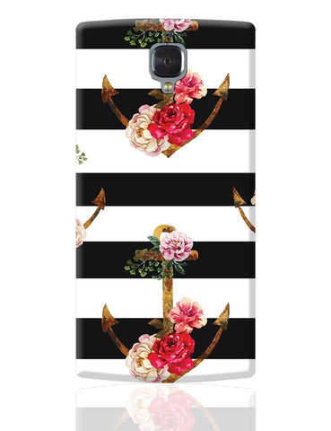 Anchor Floral Stripes OnePlus 3 Cover Online India