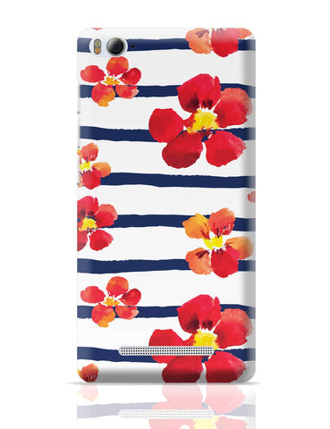 Xiaomi Mi 4i Covers | Spring Floral Stripes Xiaomi Mi 4i Cover Online India
